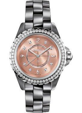 41NYV nRLYL Chanel Ceramic Watch Gorgeous Diamond Bezel Swiss Made