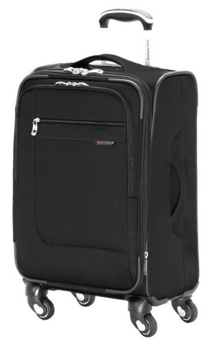 Ricardo Beverly Hills Luggage Sausalito Superlight 2.0 20-Inch 4W Expandable Spinner Carry-On, Black, Medium
