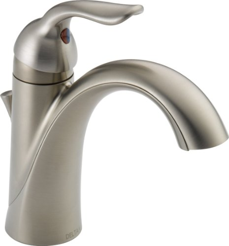 Delta Faucet Lahara Single-Handle Bathroom Faucet with Diamond Seal Technology and Metal Drain Assembly, Stainless 538-SSMPU-DST