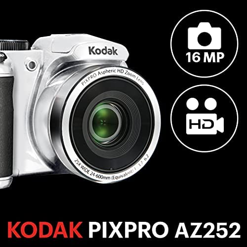 "Kodak PIXPRO Astro Zoom AZ252-WH 16MP Digital Camera with 25X Optical Zoom and 3"" LCD"