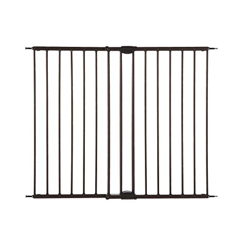 "North States 47.85"" Easy Swing & Lock Baby Gate: Ideal for Standard or Wider stairways, Swings to self-Lock. Hardware Mount (mounts Included). Fits 28.68""-47.85"" Wide (31"" Tall, Bronze)"