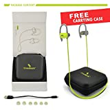 CrossBeats Raga Wireless Bluetooth Sweatproof Noise Cancelling Headset With Built-in-Mic (Gray/Green)