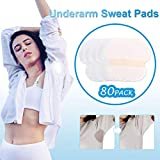 Underarm Sweat Pads - 80 Pack Dress Shields Armpit Shields Disposable Anti Sweat Women And Men For Fight Hyperhidrosis (White+skin)