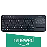 Logitech Wireless Touch Keyboard K400 with Built-In Multi-Touch Touchpad, Black (Renewed)