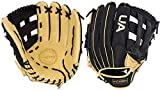 Under Armour Genuine Pro 12.75' H-Web Baseball Glove, Right Hand Throw (Black/Cream)