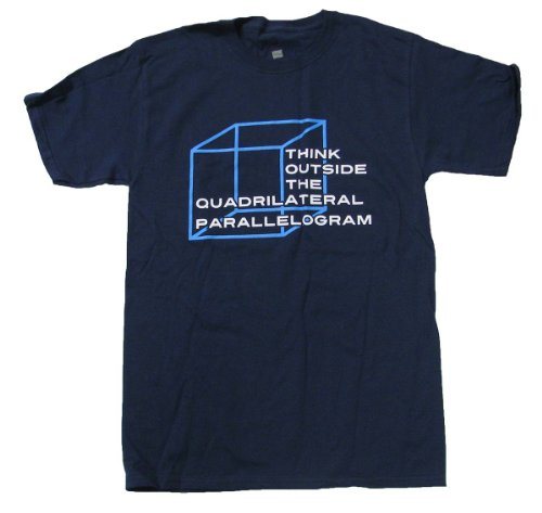 Think Outside The Quadrilateral Parallelogram Funny Math T-shirt-medium