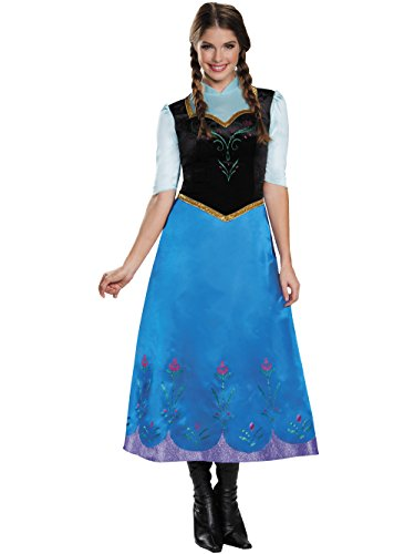 Disguise Women's Anna Traveling Deluxe Adult Costume, Multi, X-Large