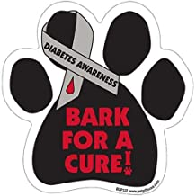 Bark For A Cure - DIABETES Awareness - Durable Car Truck & Mailbox Magnet