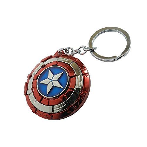 Avengers Superhero Captain America Shield Keyring