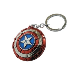 Avengers Superhero Captain America Shield Keyring