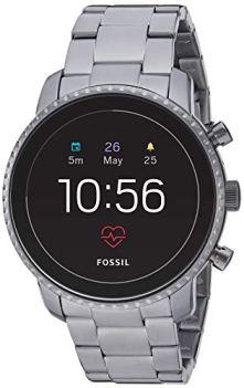 Fossil Men's Gen 4 Explorist HR Heart Rate Stainless Steel Touchscreen Smartwatch, Color: Smoke Grey (Model: FTW4012)