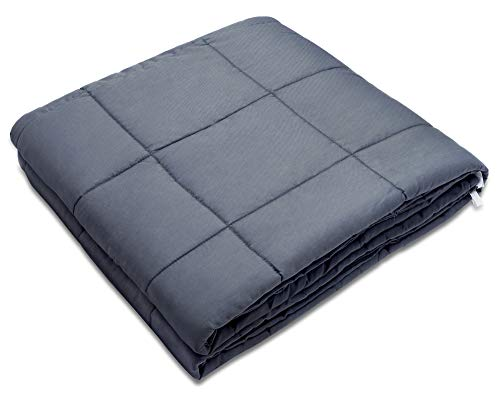 """Amy Garden Weighted Blanket for Anxiety, ADHD, Autism, Insomnia or Stress - Premium Various Weighted Blankets for Great Sleep (48""""x72"""",15 lbs for 140-150 lbs Individual, Grey)"""