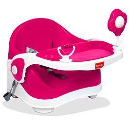 Luvlap Springdale 2 in 1 Feeding Chair & Booster Seat, Portable (Peach)