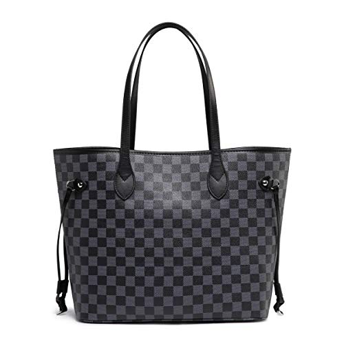 Daisy Rose Checkered Tote Shoulder Bag with inner pouch - PU Vegan Leather 2 Fashion Online Shop gifts for her gifts for him womens full figure