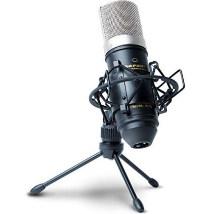 Marantz-Pro-MPM1000-Studio-Recording-Condenser-Microphone-with-Shockmount-Desktop-Stand-and-Cable--Perfect-for-Podcasting-and-Voiceover-Projects