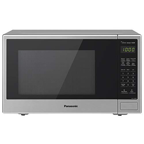 Microwave Small, Automatic Genius Sensor and Easy Popcorn Button, Panasonic NN-SU696S, Stainless Steel