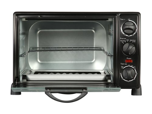 Rosewill RHTO-13001 6 Slice Toaster Oven Broiler with Drip Pan, 0.8 cu ft ,  Black