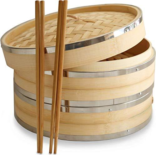 Premium Organic Bamboo Steamer Basket