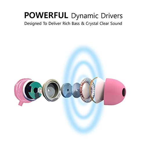 41OI%2Brtm%2BkL AGARO - 33235 Rejoice SH100 Extra Bass in-Ear Earphone with Mic & Passive Noise Isolation (Pink)