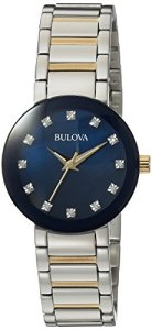 Bulova Women's Analog-Quartz Watch with Stainless-Steel Strap, Multi, 14 (Model: 98P157