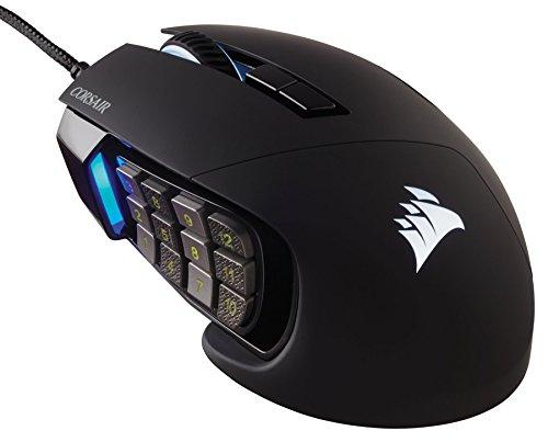 Corsair Scimitar Pro RGB MMO 16,000 DPI Optical Sensor 12 Programmable Side Buttons Gaming Mouse - Black