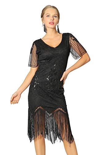 Radtengle Women's 1920s Flapper Dress Beaded Fringed ...