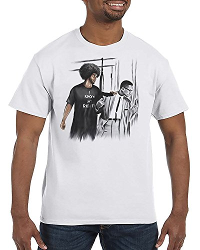I Know My Rights - Colin Kaepernick Malcolm X - White Unisex T-Shirt (X-Large)