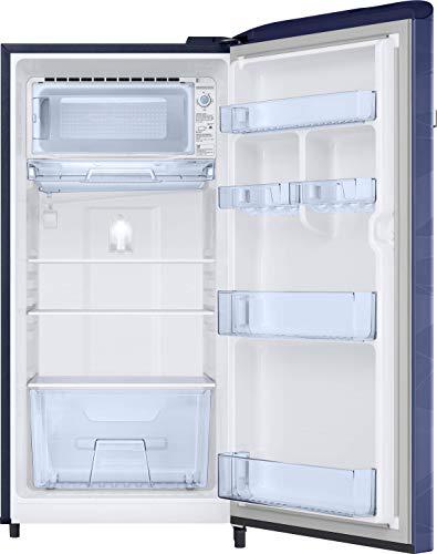 41OQ83NCUWL Samsung 198 L 4 Star Inverter Direct-Cool Single Door Refrigerator (RR21T2G2XUV/HL, Blue Wave)