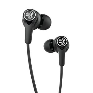 JLab Audio Epic Executive Wireless Active Noise Canceling Earbuds - Black - Travel Friendly 50 Hour Battery Life Bluetooth 4.1 aptX Technology IP54 Sweatproof Extra Gel Tips and Cush Fins +Travel Case