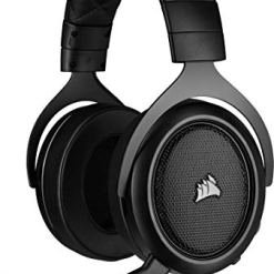 41OTgVHxv6L - Corsair HS50 PRO Stereo Gaming Headset (Adjustable Memory Foam Ear Cups, Lightweight, Noise-Cancelling Detachable Microphone with PC, PS4, Xbox One, Switch and Mobile Compatibility) - Black