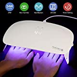 SEXY MIX UV LED Nail Lamp - Portable Folding 24W Nail Dryer Light with Timer Setting Curing Gel Nail Polish