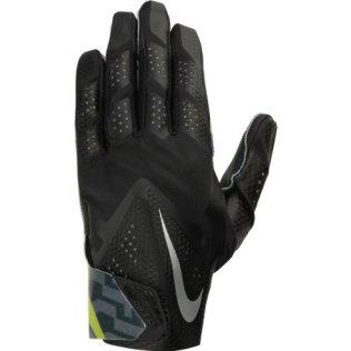 Men's Nike Vapor Fly Reciever Football Glove Black/Black/Black/Metallic Silver Size Small