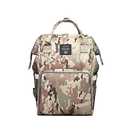 Beauty&YOP Diaper Bag Backpack Camouflage Handbag Large Capacity Casual Bag Bottle Bag Baby Bag Water-Resistant Baby Nappy Bag with Insulated Water Changing Pad for Women