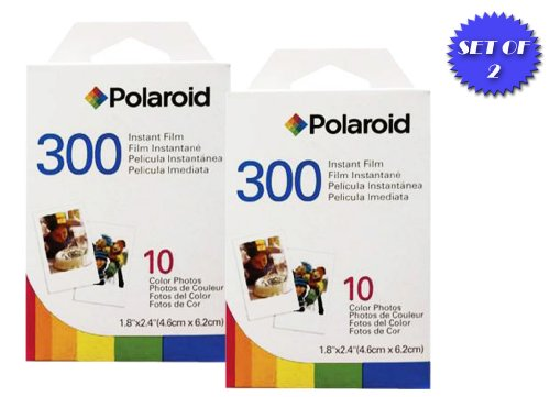 Polaroid PIF300 Instant Film – Designed for use with Fujifilm Instax Mini and PIC 300 Cameras (20 pack)