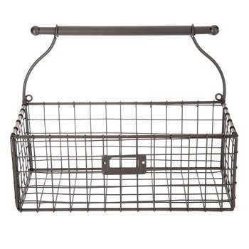 Brown Metal Wall Basket Home Farm House Decoration