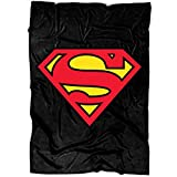 "MEXSHOP Superman Soft Fleece Throw Blanket, Superman Logo Fleece Luxury Blanket (Medium Blanket (60""x50""))"