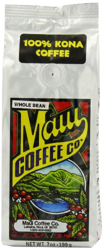 Maui Coffee Company 100% Kona Coffee (Whole Bean), 7-Ounces (Pack of 2)