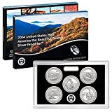 2014 S United States Mint America the Beautiful Quarters Silver Proof SetTM OGP