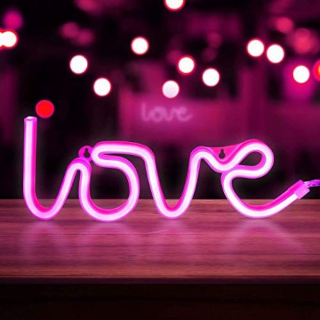 BonZeal-Love-Lamp-Light-Neon-LED-Night-Light-Battery-Powered-3D-Light-Text-Wall-Hanging-Night-Lamp-Birthday-Gifts-for-Girlfriend-Boyfriend-Fiance-Fiancee-Anniversary-Gift-for-Husband-Wife-Pink