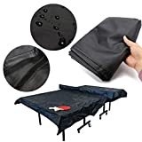 ESSORT Outdoor Ping Pong Table Cover, Oxford Fabric Table Tennis Cover Weatherproof Upright Heavy Duty Table Tennis Cover (121.3''x 63''x6.3'')