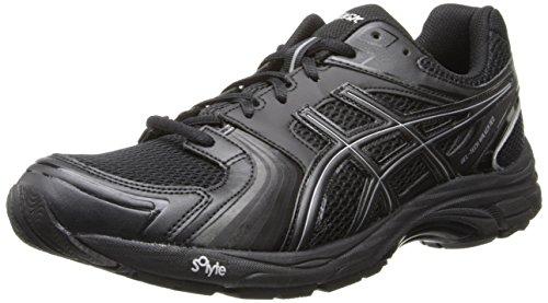 Asics Men's Gel-Tech Walker Neo 4 Walking Shoe,Black/Black/Silver,10 M US