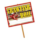 "Beistle 54910, 1-Count Crawfish Boil Yard Sign, 24"" x 14"""