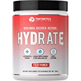 Top Notch Nutrition Electrolyte Replacement Powder Supplement with Coconut Water Powder, BCAA's, L-Glutamine, Vitamin-C & Essential Electrolytes. Replenish, Recover & Restore Your Body.