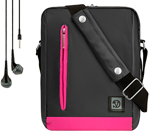 Vangoddy Adler Shoulder Bag Travel Case For Kocaso 7' Android Tablet PC M776 M Series + Handsfree Earphones