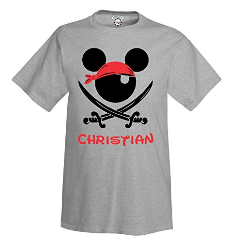 Pirate Night Mickey Disney Cruise T-Shirt for Adult Men and Youth with Personalization Option