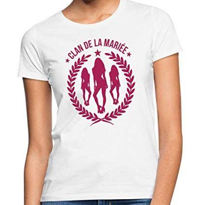 Spreadshirt-EVJF-Clan-De-La-Marie-T-Shirt-Femme