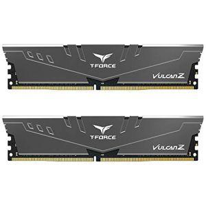 TEAMGROUP T-Force Vulcan Z DDR4 16GB Kit (2x8GB) 3200MHz (PC4-25600) CL16 Desktop Memory Module Ram (Gray…