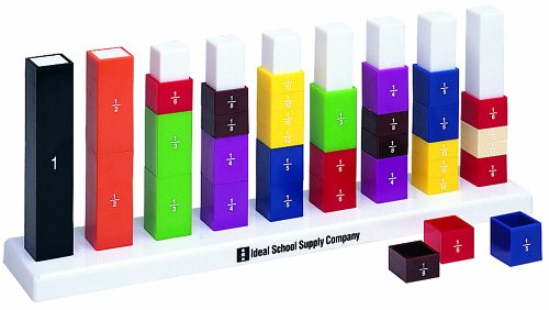 Ideal School Supply Fraction Stax Set Toy