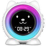 I·CODE Kids Alarm Clock,Children's Sleep Trainer, Wake Up Light & Night Light, Sleep Sound Machine -Teach Child When Fine to Wake Up
