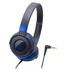Audio-Technica Street Monitoring ATH-S100BBL On-Ear Headphones Portable (Black/Blue)